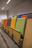 Close up chairs. A photo of chairs in a lecture room stock photo