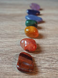 Close up of Chakra stones Royalty Free Stock Photography