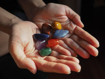 Close-up of Chakra stones Stock Photos