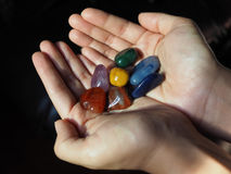 Close-up of Chakra stones Stock Image