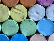Close up of chalk bars. Of color Stock Image