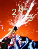 Close-up of champagne. Royalty Free Stock Images