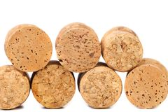 Close up of a champagne corks. Stock Photography