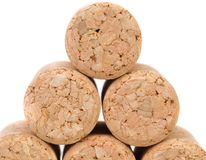 Close up of a champagne corks. Royalty Free Stock Photos