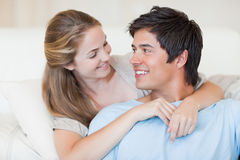 Close up of a charming couple posing Royalty Free Stock Image