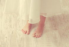 Close up of the charming small legs Royalty Free Stock Photo