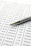 Close up of a chart. With a pen Stock Images
