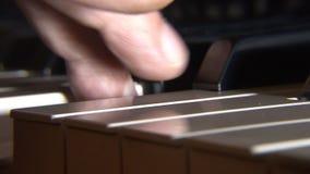 Close up chave do piano vídeos de arquivo