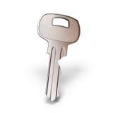 Close-up chave isolado no branco com trajeto de grampeamento Imagem de Stock Royalty Free