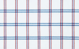 Close up checked fabric pattern Royalty Free Stock Photos