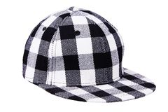 Checkered black with white baseball cap royalty free stock images