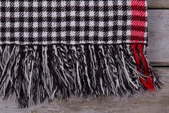 Close up on checkered scarf Stock Image