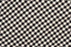 Close up on checkered tablecloth fabric. Royalty Free Stock Photo
