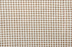 Close up on checkered tablecloth fabric. Royalty Free Stock Image