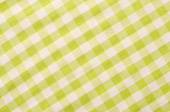 Close up on checkered tablecloth fabric. Royalty Free Stock Images