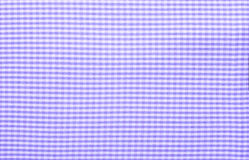 Close up on checkered tablecloth fabric. Stock Photography