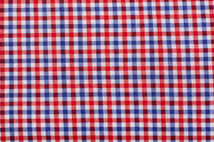 Close up on checkered tablecloth fabric. Royalty Free Stock Photography