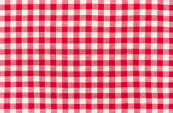 Close up on checkered tablecloth fabric. Stock Images