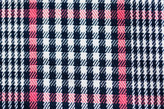 Close up of checkered textile or fabric background Royalty Free Stock Image