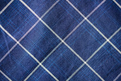 Close up of checkered textile or fabric background Stock Images