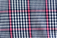 Close up of checkered textile or fabric background Stock Photo