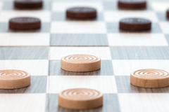 Close-up checkers board game Stock Image