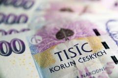 Close up checo do dinheiro Foto de Stock