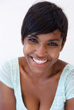 Close up cheerful young african american woman smiling Royalty Free Stock Photography