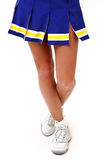 Close-up of cheerleader's legs Stock Images