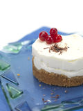 Close up of a cheese cake. A round shaped cheese cake with cranberries royalty free stock photography