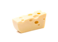 Close up of cheese slice. Stock Photos