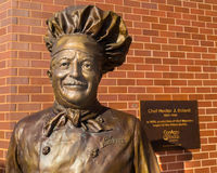 Close up of the Chef Boyardee statue. Milton, PA - July 26, 2016: A close up of the Chef Boyardee statue at the ConAgra Foods factory. Italian immigrant Ettore Royalty Free Stock Photo