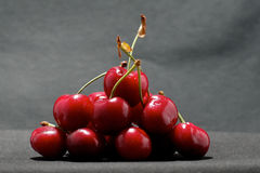 Close-up of cherries Royalty Free Stock Images