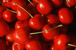 Close up of cherries Royalty Free Stock Photos