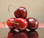 Close-up of a cherries. Picture of a close-up of cherries Stock Image