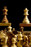 Close up of chess pieces Royalty Free Stock Photo
