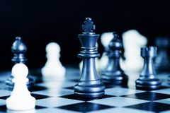 Free Close Up Chess Pieces On Chessboard Stock Photos - 126088643