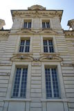 Close-up of Cheverny castle stock photography