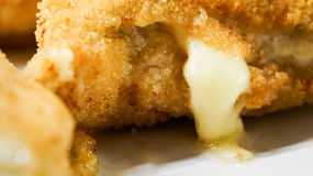 Close up of chicken cordon bleu  Royalty Free Stock Photography