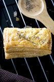 Close up chicken puff pastry Stock Images