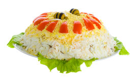 Close-up Chicken Salad Stock Photo