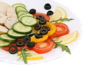 Close up of chicken salad. Royalty Free Stock Images