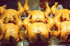 Close up chickens boiled with fish sauce. street food in Thailand royalty free stock photos