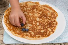 Crepes with Blueberries Royalty Free Stock Image