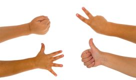 Child`s hands gesturing Royalty Free Stock Photography