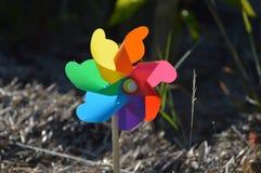 Colorful windmill Stock Photo