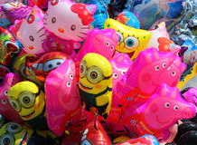 Close up of children's balloons. Background. Royalty Free Stock Photos