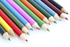Close-up of Children Stationery Color Pencil Stock Image