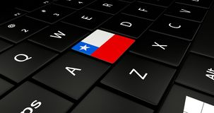 Close up of Chile button. Stock Image