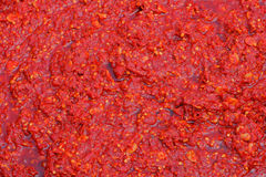 Close up of chili sauce. In a chilli sauce factary Stock Images
